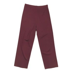 Exclusively Misook | Knit Pants Maroon Petite PL